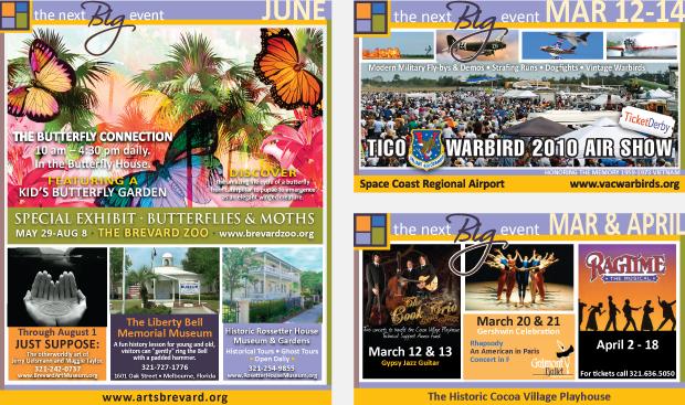 Magazine Campaign Ad Development  / Cultural Marketing - Space Coast Living