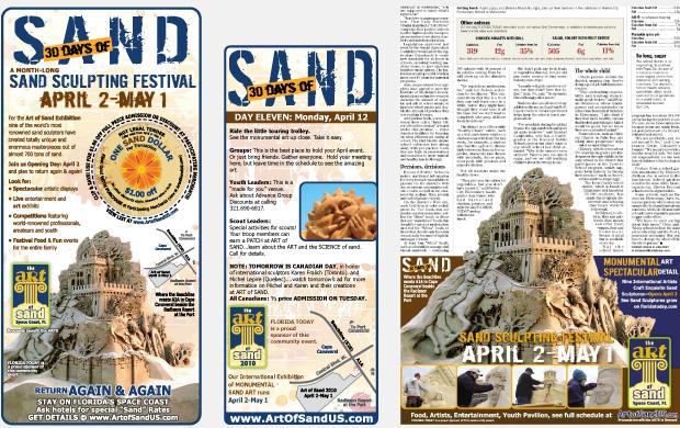 Cultural Marketing Initiative Art of Sand Portfolio Newspaper Ads