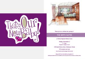 Health First Birth Suites Portfolio Invitation