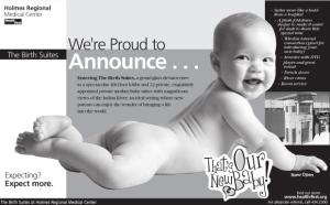 Health First Birth Suites Portfolio Ad