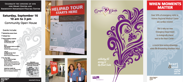 Signage Design / collateral / Facility Launch - Health First Heart Center
