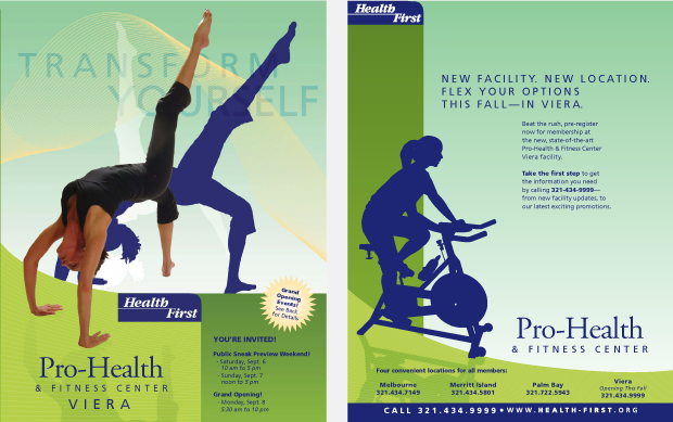 Health First Pro Health & Fitness Viera Campaign / insert