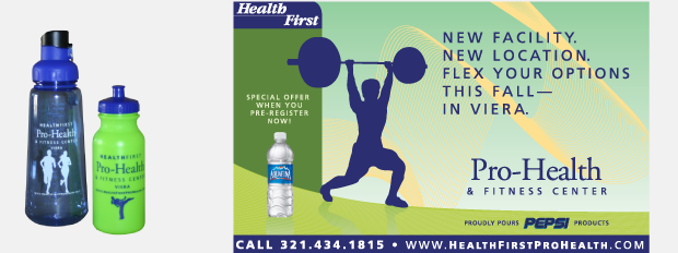 Health First Pro Health & Fitness Viera Campaign / Direct Mail