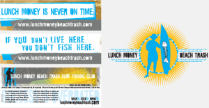 Lunch Money Beach Trash Portfolio Stickers