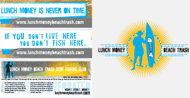 Lunch Money Beach Trash Portfolio Stickers