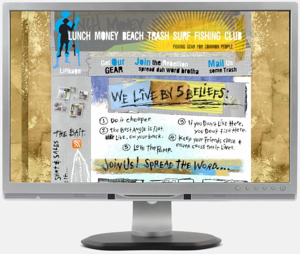 Lunch Money Beach Trash Portfolio Website