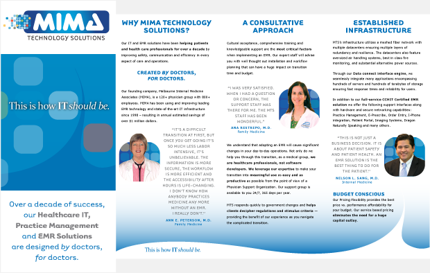 MIMA Technology Solutions Portfolio Collateral