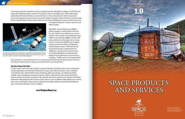 The Space Report 2010 Portfolio Page Spread