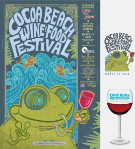 Cocoa Beach Wine and Food Festival Logo
