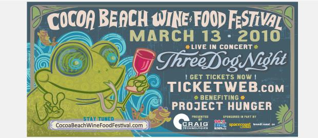 Cocoa Beach Wine and Food Festival Signage