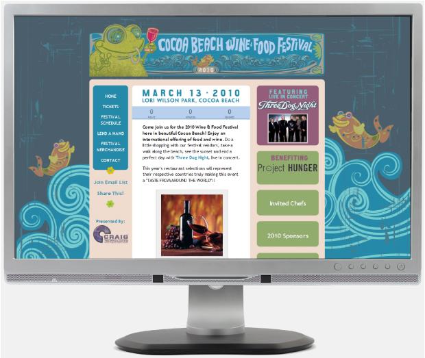 Cocoa Beach Wine and Food Festival Website