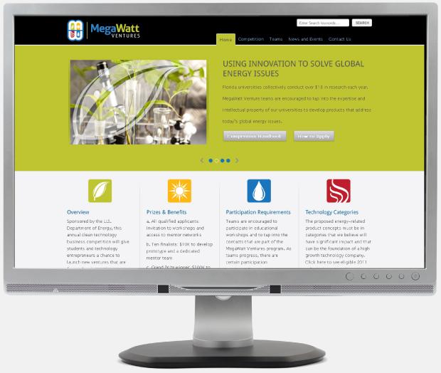 Website Design WordPress - MegaWatt Ventures Website