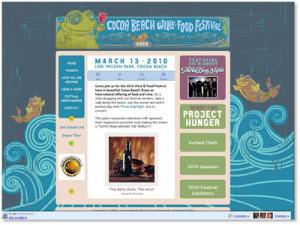Cocoa Beach Wine & Food Festival Lunch Money Beach Trash Advertising Marketing Firm Award Brevard FL