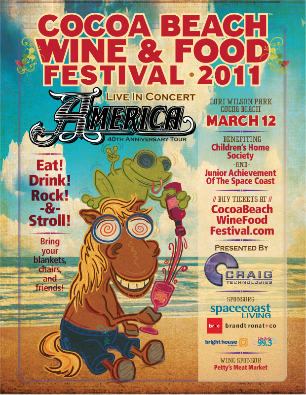 Cocoa Beach Wine and Food Festival Poster