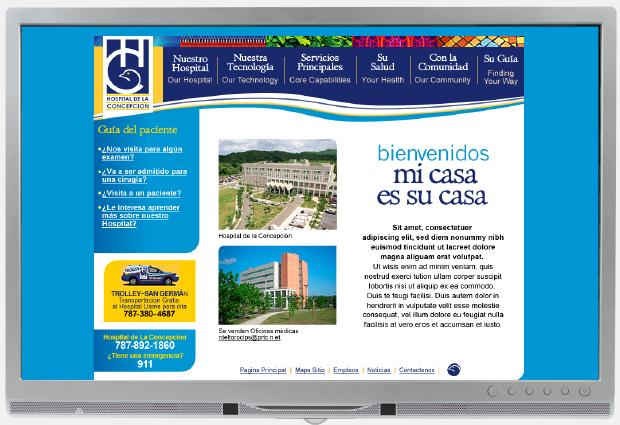 Hospital De La Concepcion web Advertising Spanish