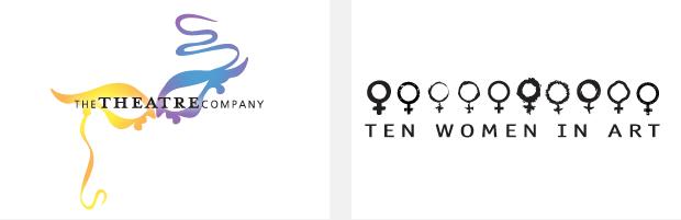 Logo / Brand Design / Development - the theatre company / ten women in art