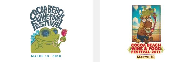 Logo / Brand Design / Development - cocoa beach wine & food festival