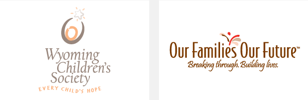 Logo / Brand Design / Development - Wyoming Children's Society / Our Families Our Future
