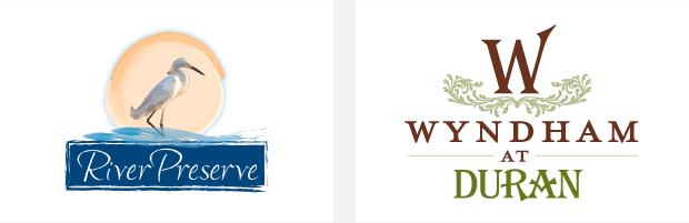 Logo / Brand Design / Development - River Preserve / Wyndham at duran