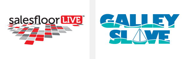 Logo / Brand Design / Development - salesfloor Live / Galley Slave