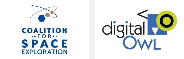 Logo / Brand Design / Development - Coalition for Space Exploration / Digital Owl