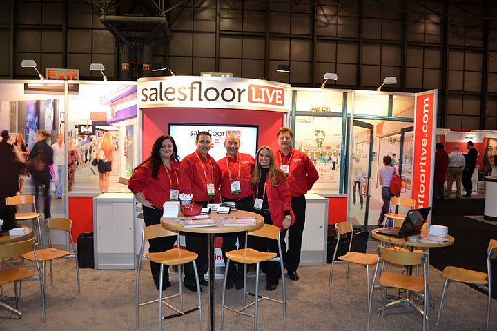 salesfloor LIVE tradeshow booth for NRF 2010