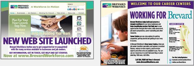 Brevard Workforce advertising Portfolio magazine ads