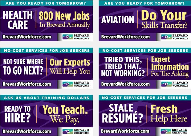 Brevard Workforce advertising Portfolio billboard campaign 2