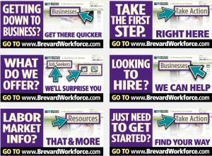 Brevard Workforce advertising Portfolio billboard campaign