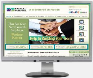 Brevard Workforce advertising Portfolio website development