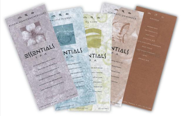 Collateral Design / Branding - Essentials Spa