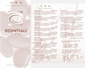 Essentials Spa Portfolio Collateral 2