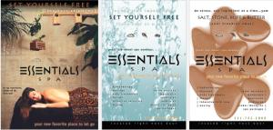 Essentials Spa Portfolio Poster Design Signage