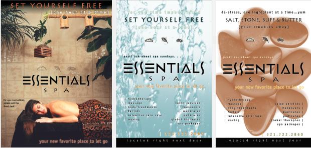 Poster / Signage design - Essentials Spa
