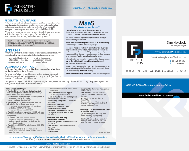 Federated Precision Collateral Branding