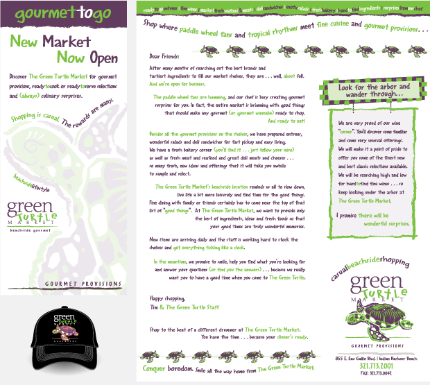 green turtle market collateral design