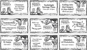 green turtle market portfolio newspaper advertising campaign