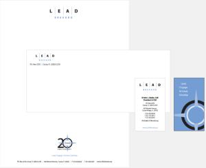Lead Brevard stationery - Rebrand
