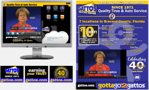 Gatto's Tires & Auto Service Billboard Advertising Interactive Yahoo Social