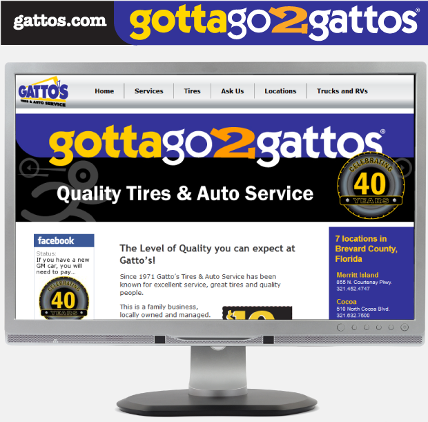 Facebook Page Design - Gatto's Tires & Auto Service
