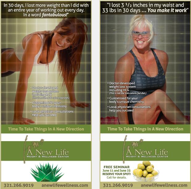 Magazine advertising campaign -New Life Wellness