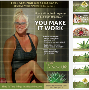 New Life Wellness Newspaper Insert advertising campaign 3