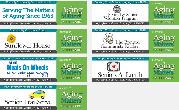 Billboard Campaign Design / Development - Aging Matters in Brevard