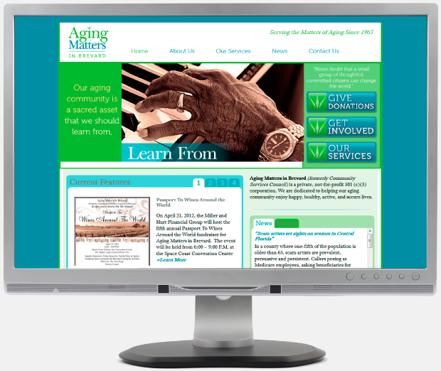 Website Design / Development / WordPress - Aging Matters in Brevard
