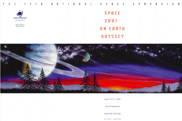 Poster Design - National Space symposium 2001 / Space Foundation