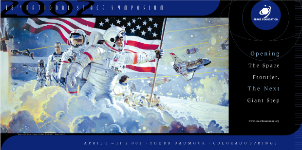 Poster Design - National Space symposium 2002 / Space Foundation