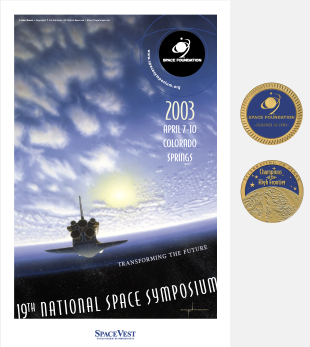Poster Design - National Space symposium 2003 / Space Foundation