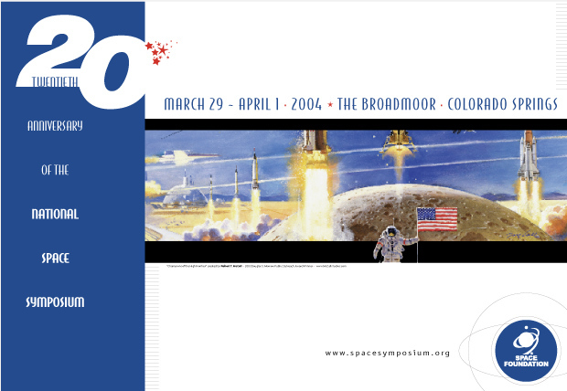 Poster Design - National Space symposium 2004 / Space Foundation