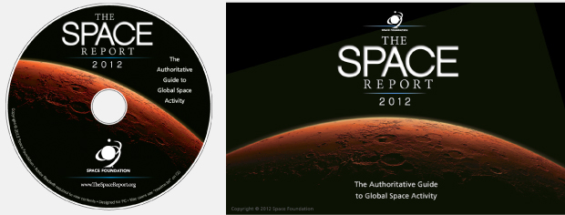 CD Rom package design / development / Space Report 2012 / Space Foundation