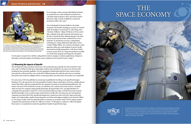 Book design / development / Space Report 2012 / Space Foundation